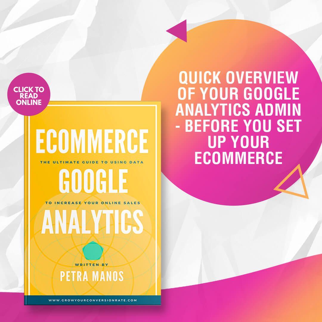 Google Analytics Admin Ecommerce