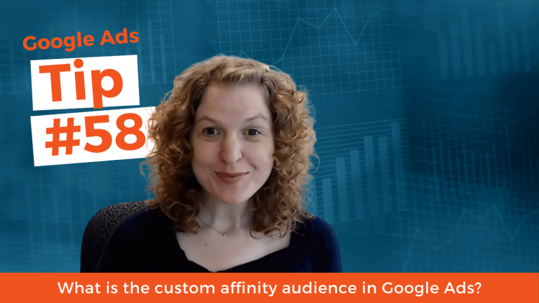 What is the custom affinity audience in Google Ads?
