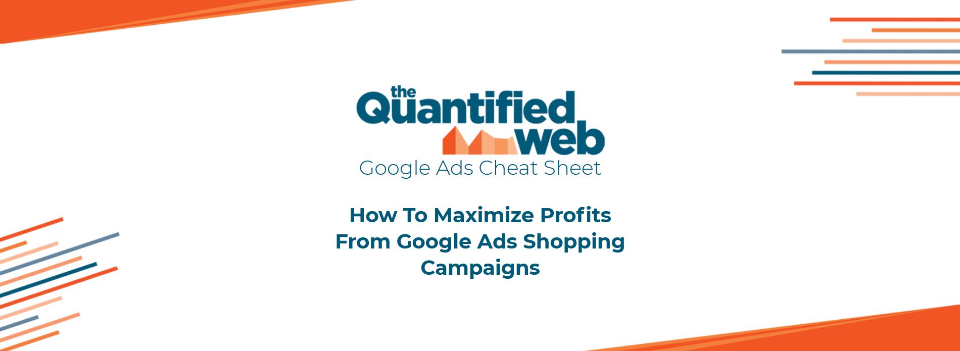 Google Shopping Ads Cheat Sheet